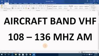 VHF Aircraft band frequencies and what you might expect to hear and how to find local airport freque