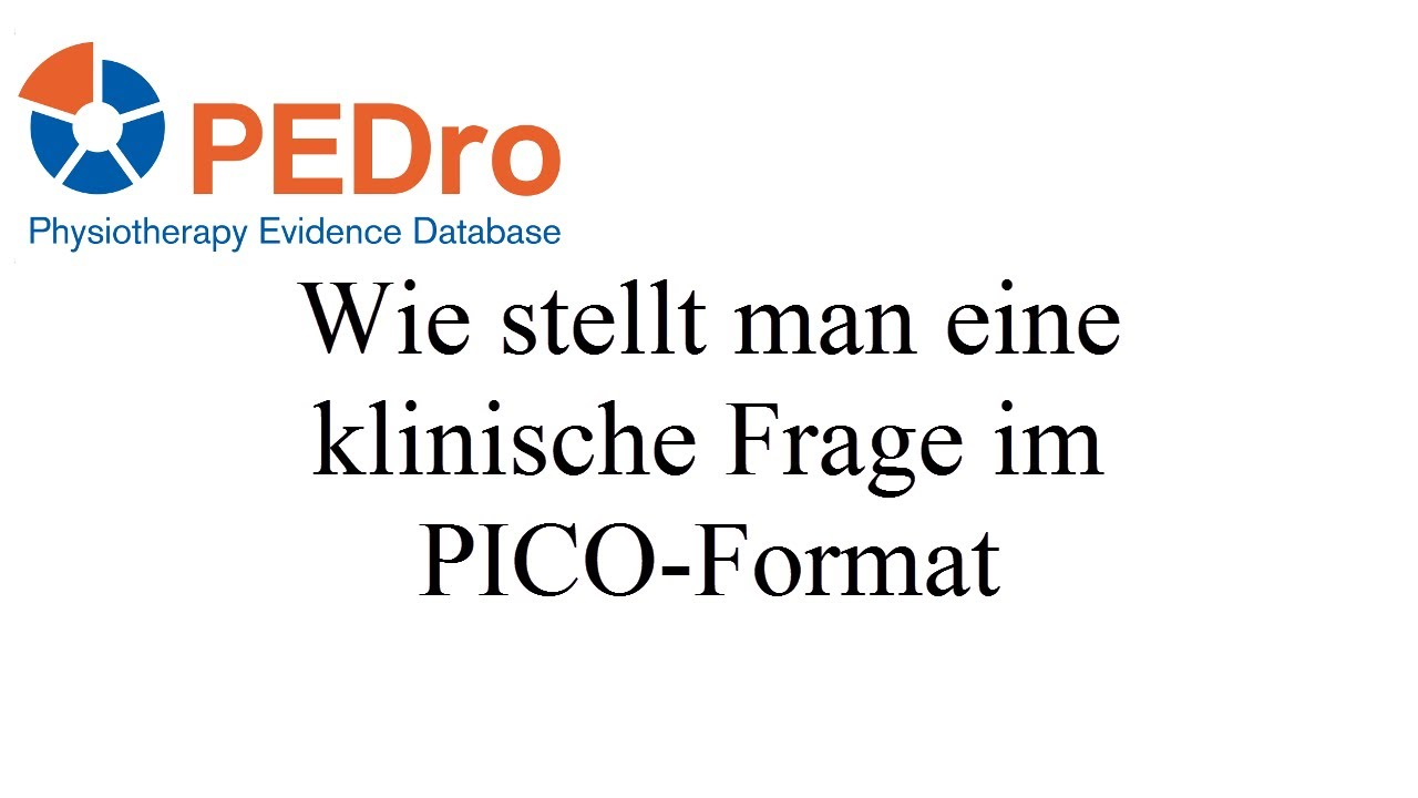 How To Ask A Clinical Question In Pico Format Deutsch German