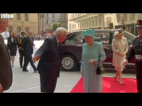 BBC News   Queen arrives at Broadcasting House mp4