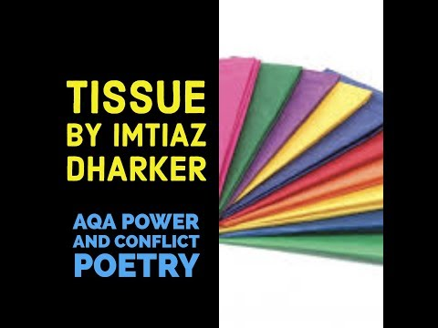 Analysing Tissue by Imtiaz Dharker