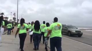 BACODA Picking Up Butts On Galveston Seawall