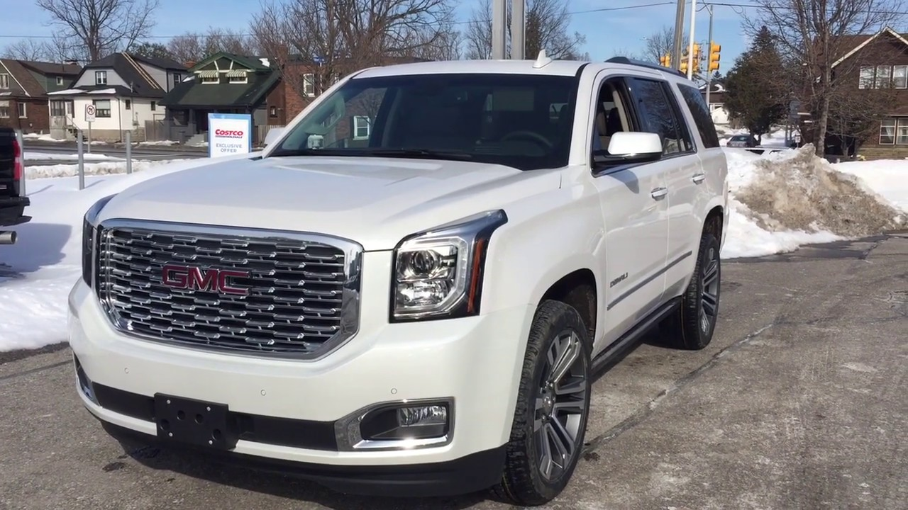 2019 Gmc Yukon Denali Head Up Display Blu Ray Dvd White Oshawa On