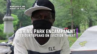 Loring Park Encampment Resident Speaks on Eviction Threat