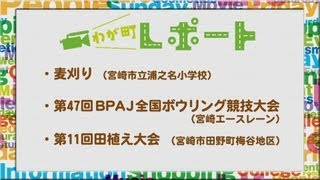宮崎の町情報をお届け!! 「麦刈り、第47回BPAJ全国ボウリング競技大会、第11回田植え大会」