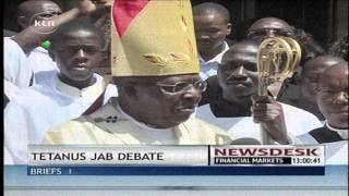 Archbishop John Njue call on the government to scrutinize tetanus findings