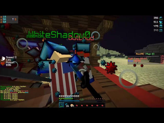 RiotMC Map 2 | End Koth Fights v. Titan,Sacred,Voltage (DDOSED @ END OF VID)