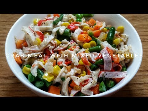 HOW TO COOK CRAB MEAT WITH MIXED VEGETABLES | Kat's Empire |