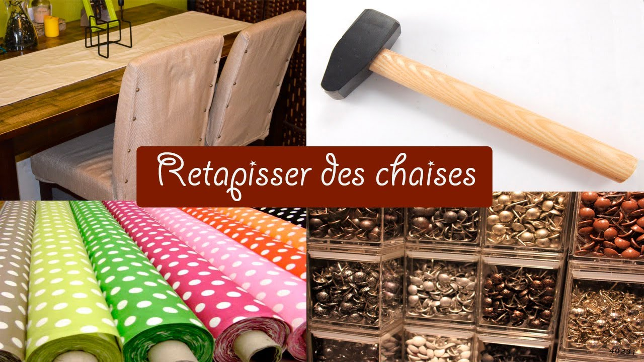 Diy comment relooker des chaises niveau facile youtube for Housse assise de chaise
