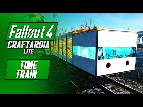TIME TRAIN - Fallout 4 Custom Train Build - Fallout 4 Craftardia Lite