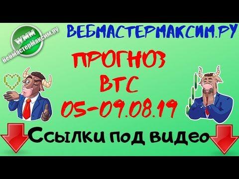 Прогноз цены Биткоина 5,6,7,8,9 августа 2019 года. Bitcoin прогноз курса на неделю
