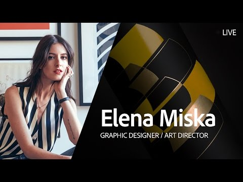 Live Graphic Design with Elena Miska - Day 2/3