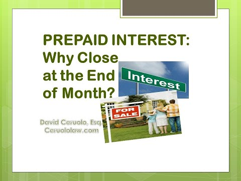 What is prepaid interest on a mortgage?