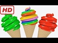 Learn Colors with 3D Soft Ice Cream for Kids Children Toddlers - Colours for Kids to Learn