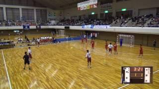 5日 ハンドボール男子 あづま総合体育館 Bコート 千原台×明星 1回戦 1