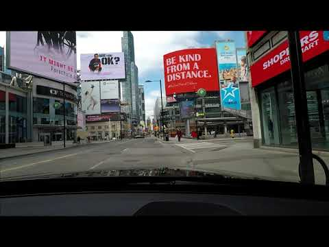 Empty Streets in Toronto during Covid-19 Corona Virus Pandemic 2020