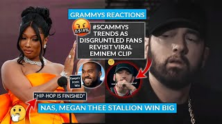 Grammys Reactions: Eminem Clip Resurfaces As #SCAMMYs Trends, Nas Megan Thee Stallion Wins BIG