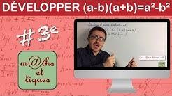 Développer à l'aide de l'identité remarquable (a-b)(a+b)=a²-b²