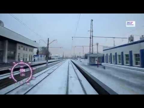 Москва - Владимир за 10 минут, из кабины электрички (60fps)