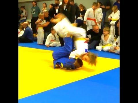 Judo, Jõuluturniir 2017 самый быстрый IPPON,Tomoe nage,II место Bruno 8a.-32kg