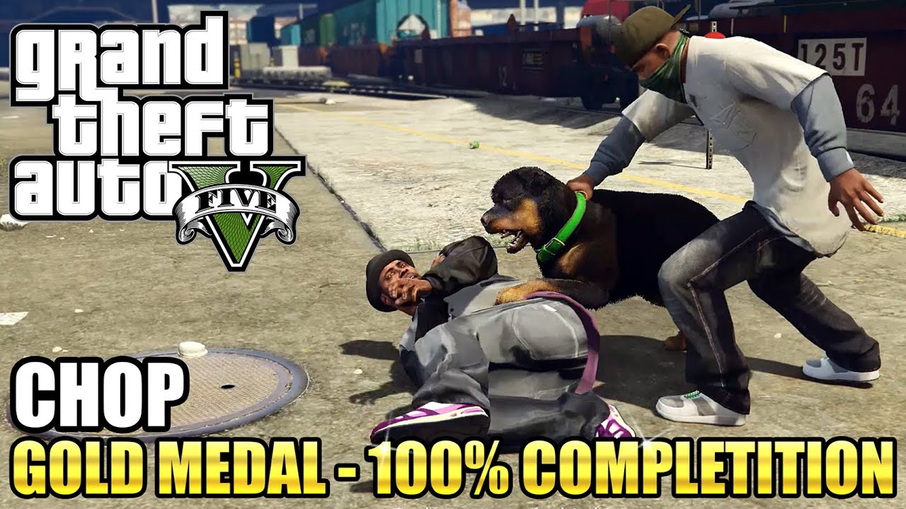 GTA 5 - Chop (Mission #6) - 100% Gold Medal Guide - PS4