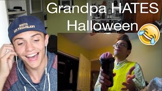 Grandpa HATES Halloween! Reaction