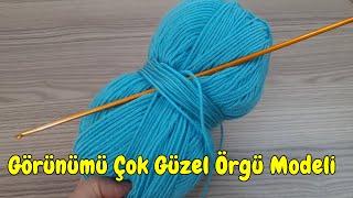 GÖRÜNÜMÜ ÇOK GÜZEL TUNUS İŞİ ÖRGÜ MODELİ how to crochet  knitting model
