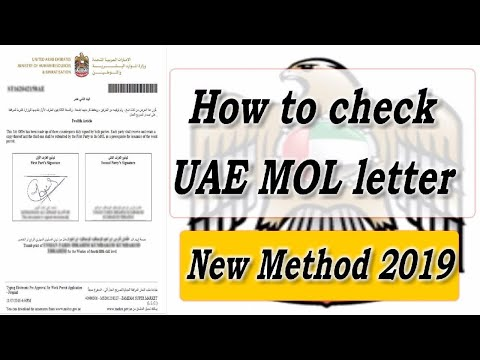 job in Dubai 389, MOL Information about your Visa