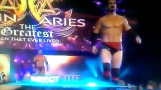 TNA-Austin Aries putting crotch in Christy Hemme