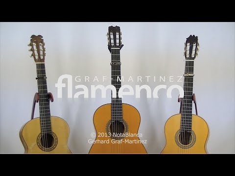 Three flamenco guitars in comparison (Graf-Martinez)