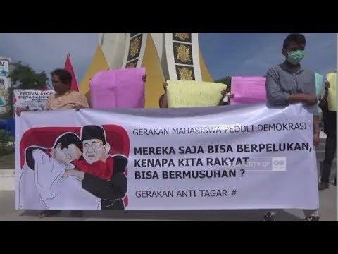 Mahasiswa Di Aceh Gelar Aksi Menuntut Hentikan Perang Tagar Pilpres 2019