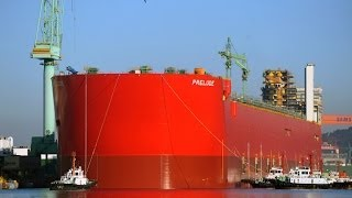 Shell launches world's largest ship, bigger one planned