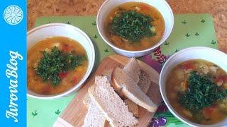 Суп из чечевицы с курицей и овощами (фирменный суп от главы семейства)