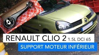 Renault Clio 2 - support moteur inférieur - 1.5L dci 65cv