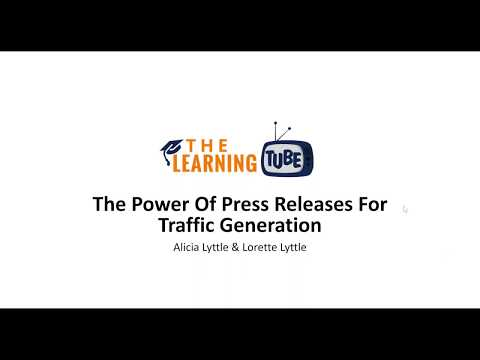The Learning Tube  Free Weekly Training  Power of Press Releases