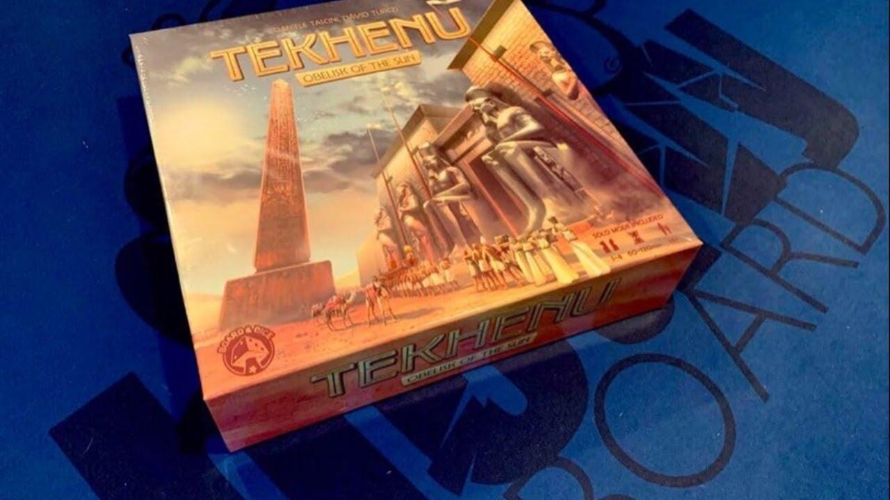 Tekhenu: Obelisk of the Sun unboxing by Heavy Cardboard