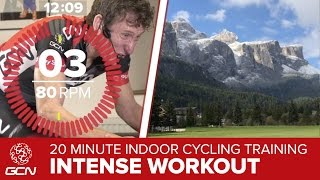 20 Minute Intense Workout: Indoor Cycling Training – Passo Campolongo