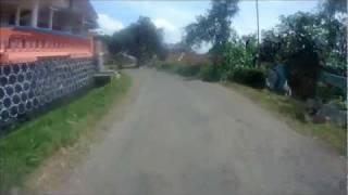 Descending from Wonosari to Lawang, East Java