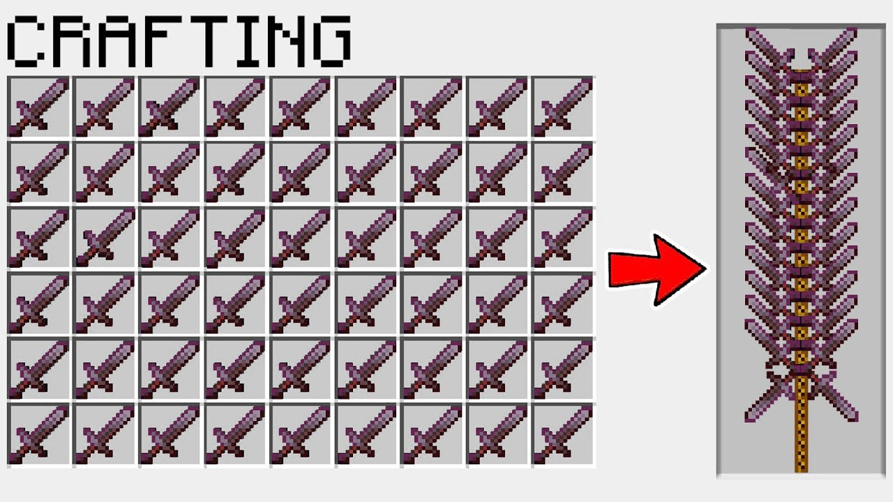 Minecraft But You Can Craft NETHERITE MONSTER SWORD!