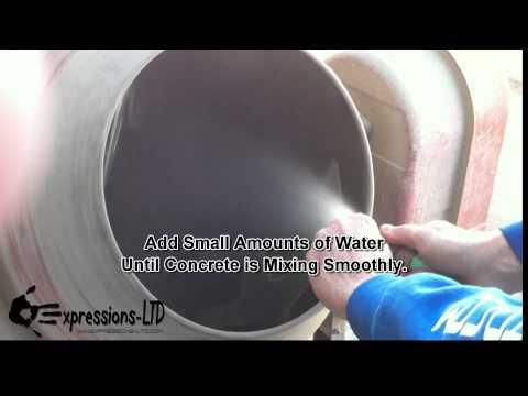 Mixing Concrete for Concrete Countertops