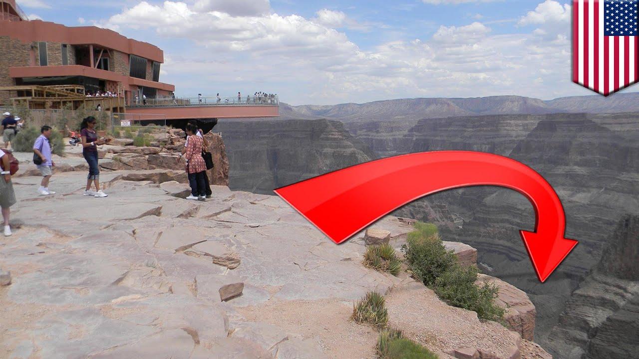 中國遊客愛自拍 不慎摔落大峽谷 - YouTube