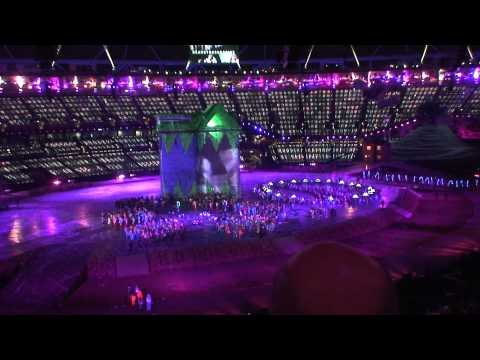 Olympics opening ceremony Featuring everyone from The Beatles to The Stones to Eric God Clapton