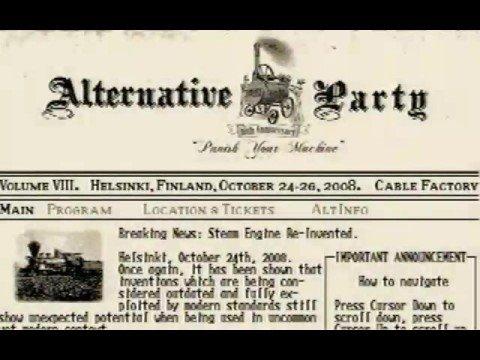 Alternative Party 2008 invite by Paradox