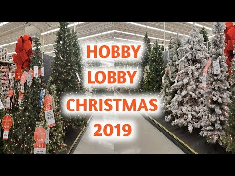 NEW HOBBY LOBBY CHRISTMAS DECOR AND TREES 2019 | 4K | SHOP WITH ME