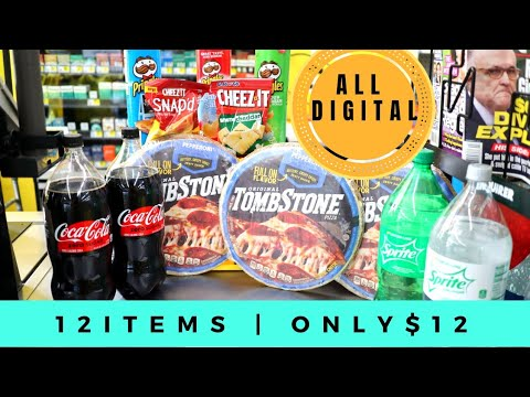 Dollar General ALL DIGITAL Coupons!Food Grocery Haul! Learn how to Coupon Easy! One Cute Couponer