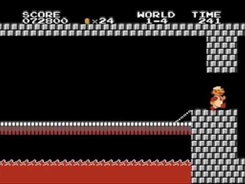 Super Mario Bros. bootleg (NES/FC) castle ending music glitch
