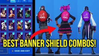 *NEW* FORTNITE BANNER SHIELD SHOWCASED WITH THE BEST SKINS! BEST COMBOS FOR BANNER SHIELD FORTNITE