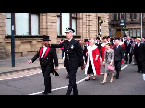 Kirking of the Council Parade Perth Perthshire Scotland June 3rd