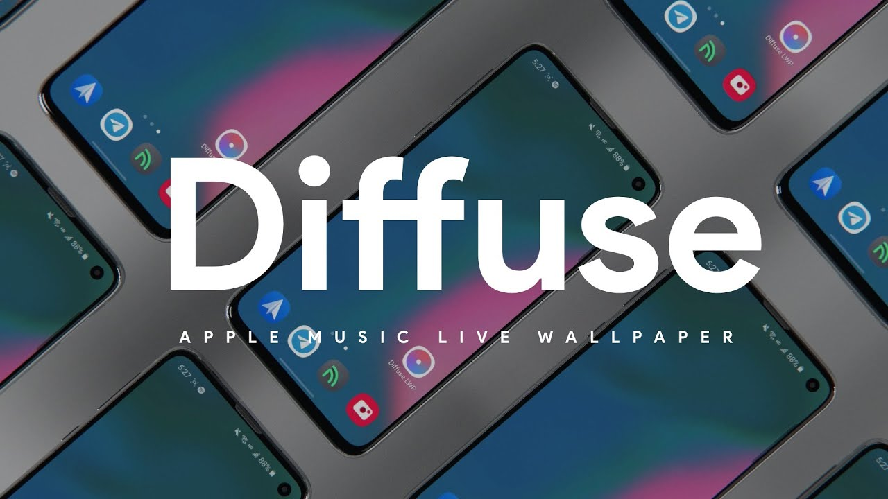 Diffuse Apple Music Live Wallpaper Launch Video