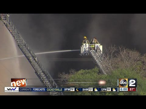 Massive fire at Whitehouse & Schapiro Recycling Plant in Baltimore