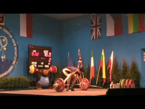 Sheila Ramos European Union Weigthlifting Championships 2009